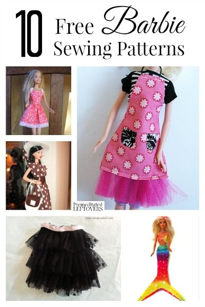 Critical image for free printable barbie clothes sewing patterns