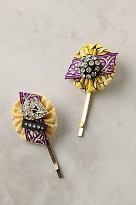 bobby pins: Hair Pin, Anthropologie Hair, Diy Bobbypins, Bobbypin Tutorial, Diy Hair Flowers, Pin Tutorials, Hairpin, Bobby Pin