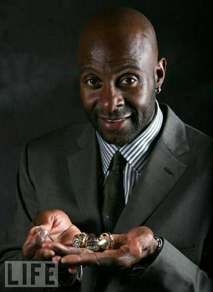 Jerry Rice with a few rings. Super Bowl rings that is. Go 9ers!