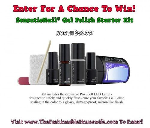 Day 3 Giveaway – SensatioNail® Gel Polish Starter Kit worth $59.99 #12daysofchristmas #giveaways