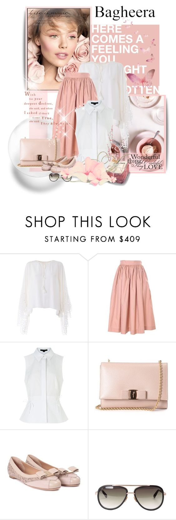 """""""Untitled #327"""" by zeljanadusanic ❤ liked on Polyvore featuring Chloé, Bagheera, Alexander Wang, Salvatore Ferragamo, Pier 1 Imports and bagheeraboutique"""