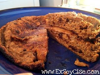 Pumpkin 'n Chocolate Chip Protein Pancake (soy, dairy & grain free) - ExSoyCise