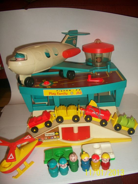 Vintage Fisher Price Airport-I didn't have the complete set for some reason,I just had the plane.
