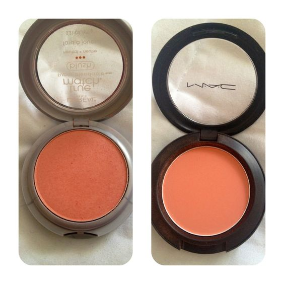 Found a dupe! Loreal True Match Blush in Precious Peach vs. MAC Peaches blush. They are practically the same shade although I will say that the MAC is a little more pigmented. If you are on a budget the Loreal is perfect