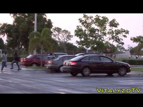 Zombie prank in Miami. I LOLd for like 10 minutes after watching this!