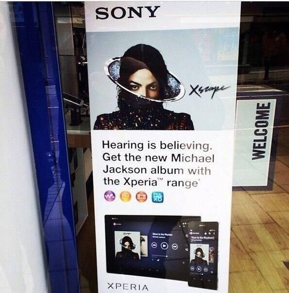 "Michael Jackson's new album ""Xscape"", promo at HMV, London, UK, May 2014"