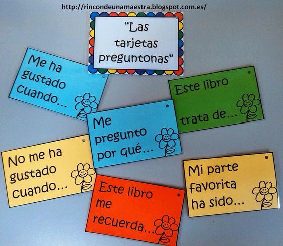 Rincón de una maestra: Las tarjetas preguntonas