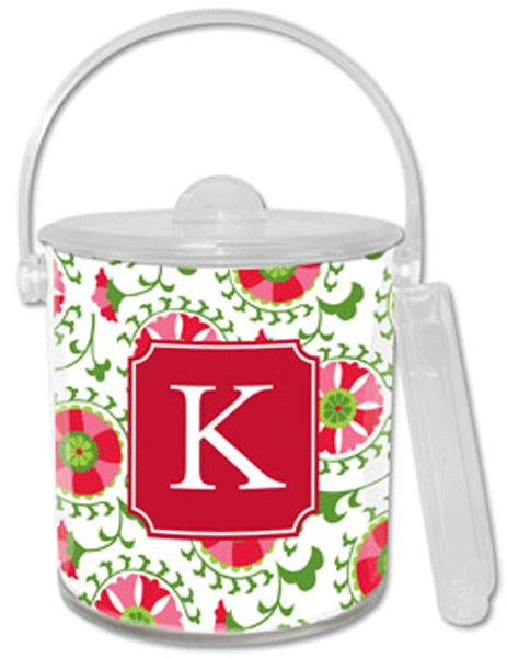 Suzani Holiday Personalized Ice Bucket - GirlyTwirly.com