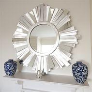 Contemporary Mirrors Striking Silver Contemporary Mirror