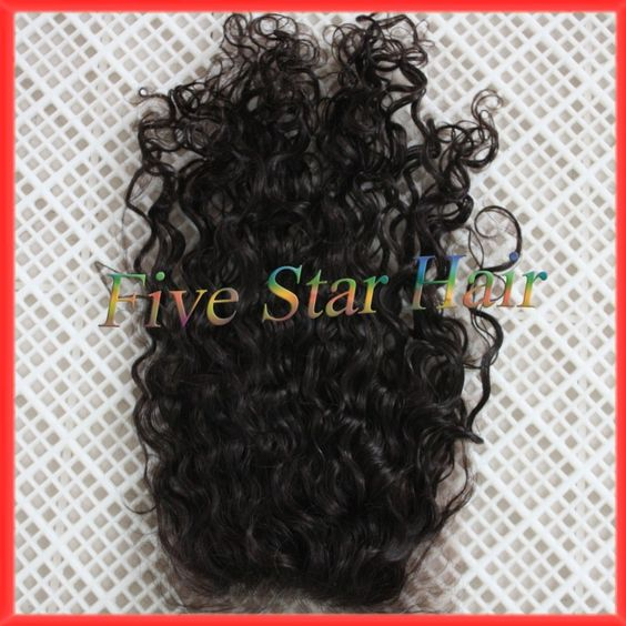 Find More Lace Closure Information about 100% Unprocessed virgin Malaysian hair closure free part Natural black curly silk base closure with baby hair,High Quality lace closure top piece,China lace red Suppliers, Cheap lace front cheap wigs from Five star human hair products store  on Aliexpress.com