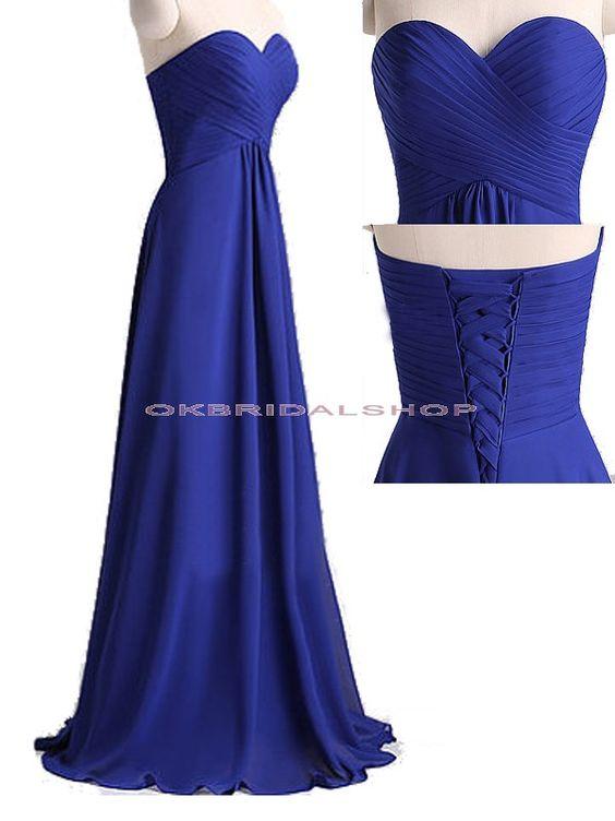 long bridesmaid dresses, royal blue bridesmaid dress, chiffon bridesmaid dress…