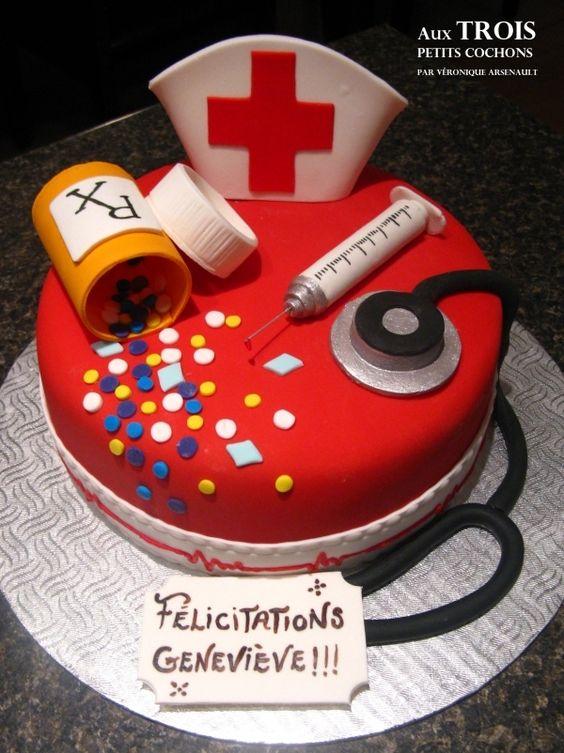 Nurse Cake for graduation.  Looks interesting!