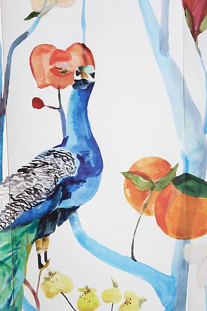 Pinterest the world s catalog of ideas for Anthropologie mural wallpaper