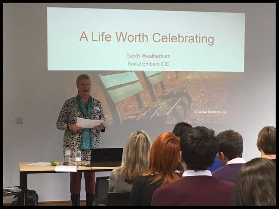 'A Life Worth Celebrating' a presentation given by Social Embers about memorial, digital legacy, virtual reality and augmented reality.