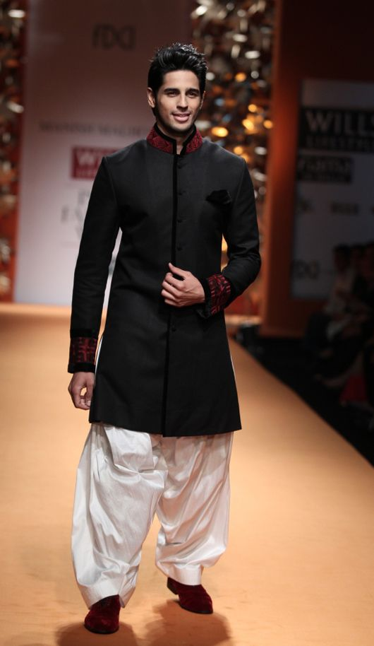 Actor/Model Siddharth Malhotra walking for Manish Malhotra's Fashion Show