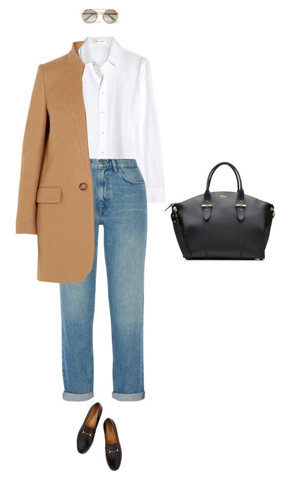 """Untitled #215"" by amyjonez on Polyvore featuring Yves Saint Laurent, M.i.h Jeans, Gucci, STELLA McCARTNEY, Alexander McQueen and Prada"