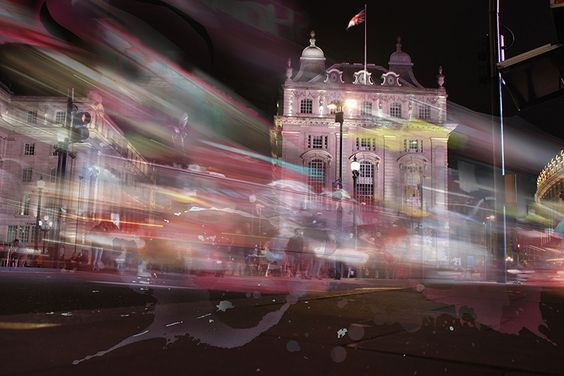 Piccadilly Circus in Motion. Photography by Scott Kish