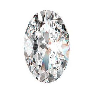 Oval-shaped diamond