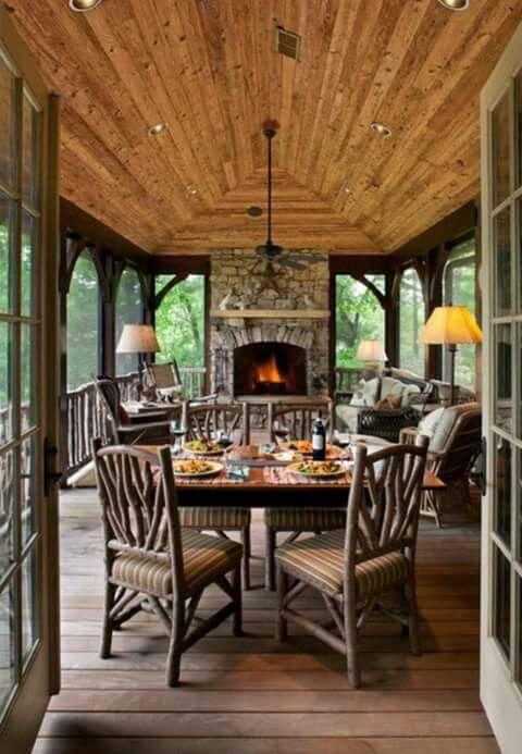 Beautiful enclosed porch