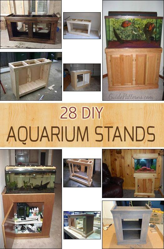 DIY: 28 Different Aquarium/Fish tank Stand ideas with tutorials.
