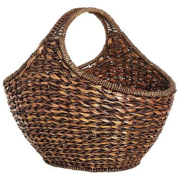 Eco Displayware Eco-Friendly Oval Large Basket Lampakanai Twine and Hanada