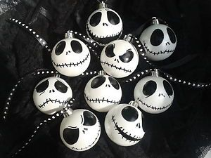 #Jack #Skellington #baubles # white #Christmas #tree #decoration #Nightmare #Before #Christmas #Halloween