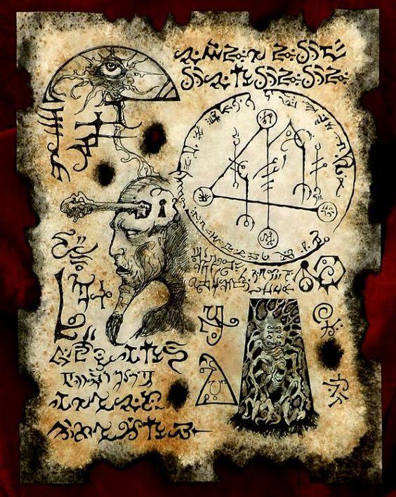 KEY to YOG SOTHOTH cthulhu larp Necronomicon Fragment occult magick