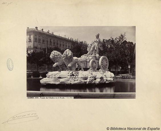 Madrid, fuente de Cibeles en el Prado. Laurent, J. 1816-1886 — Fotografía — 1870?