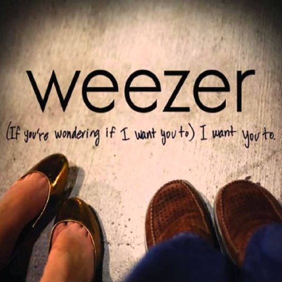 Weezer – (If You're Wondering If I Want You To) I Want You To (single cover art)