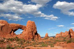 Arches National Park, Moab, UT- July 2001.  Favorite state park visited to date.  Awesome hiking with little ones!