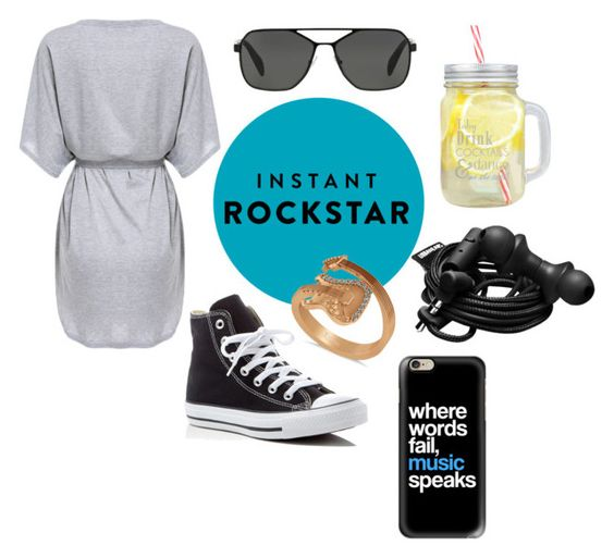 """""""Shades of You: Sunglass Hut Contest Entry"""" by mary-oggiwork ❤ liked on Polyvore featuring Prada, Converse, Allurez, Urbanears, Casetify and shadesofyou"""