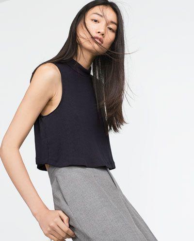 Imagem 3 de TOP CROPPED da Zara