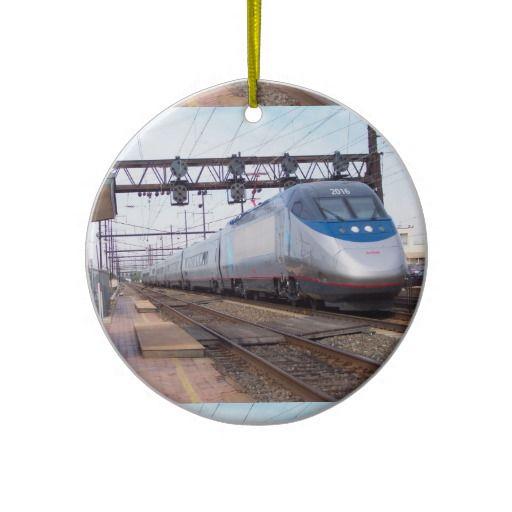 Amtrak Acela 2016-6250 Horsepower of SPEED Ornaments   -SOLD-