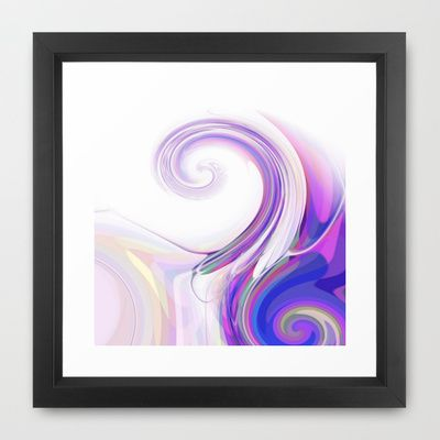 Re-Created  Tsunami FOUR Framed Art Print by Robert S. Lee - $35.00