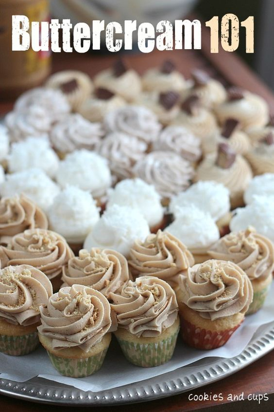 ❥ Buttercream icing ideas and how-to's: Cupcakes Cake, Frostings Icing, Buttercream Recipe, Buttercream Icing, Basic Cupcake Recipe, Cakes Frosting, Buttercream Cupcakes