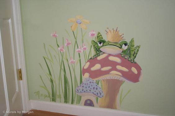 Frog murals kid rooms fairy tale mural the frog prince for Fairy tale wall mural