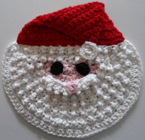 Maggie's Crochet · Free Santa Crochet Dishcloth Pattern in Cotton Yarn by Maggie Weldon