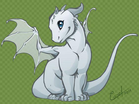 Chibi dragon sitting proud