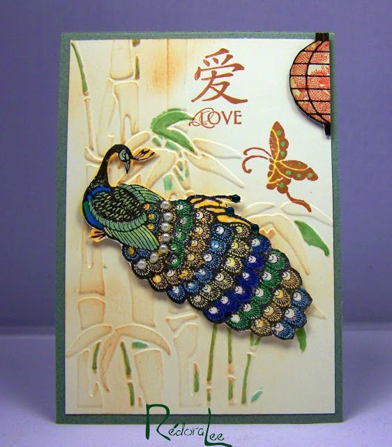 Peacock Journal Card