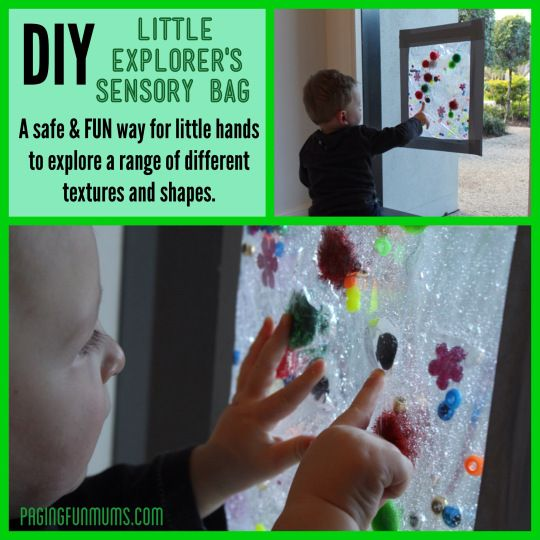 DIY Gel Sensory Bag - Great play idea for babies!