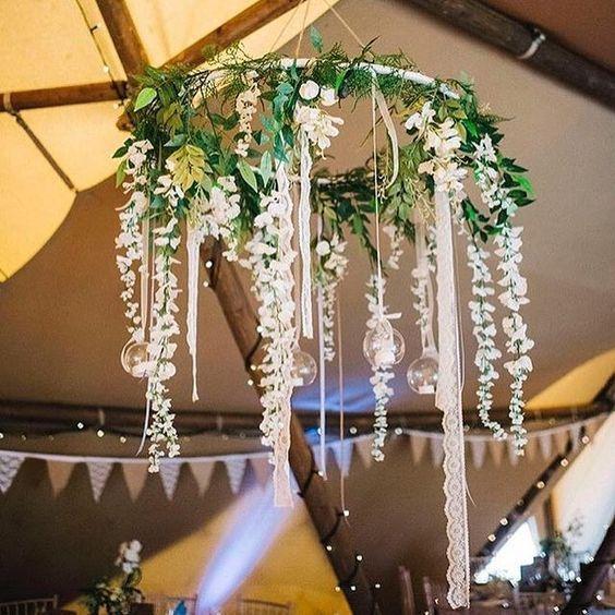 Hermosas ideas para decorar con hula-hoop o hula-hula - Dale Detalles