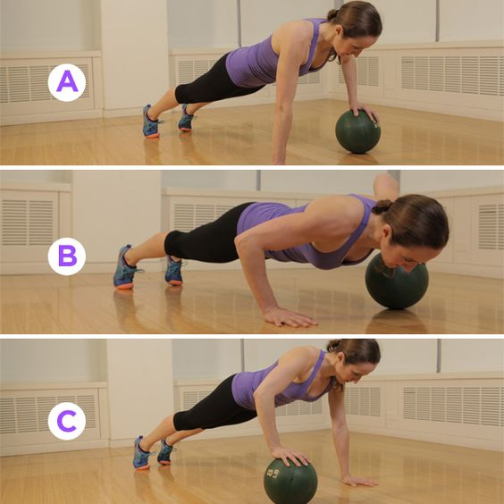 Stability Ball Upper Body Workout: Medicine Ball, Medicine And Upper Body On Pinterest