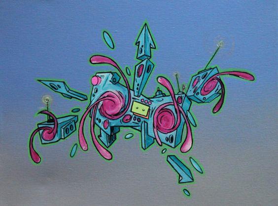 boombox graffiti