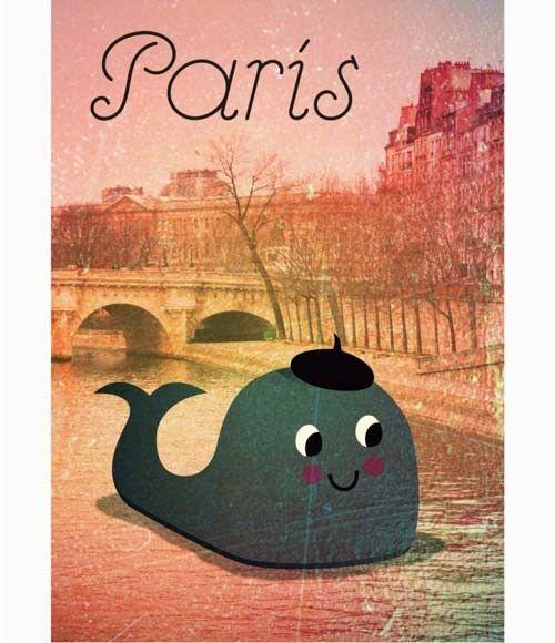 Affiche Ingela P. Arrhenius Whale in Paris