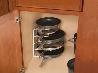 Rubbermaid Pan Organizer  cabinet and drawer organizers . . . genius in its simplicity