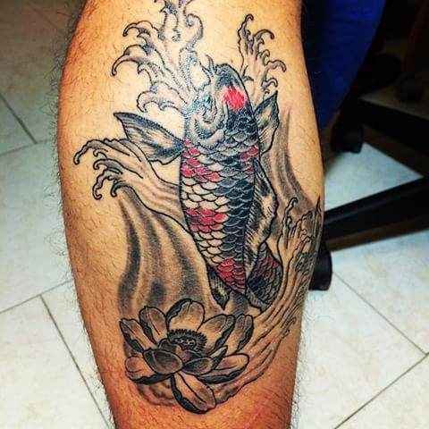 #carpa koi #black and red #polpaccio #sfumato #tattoo #tatuaggio #instagramers #tagsforlikes #statigram #instahub
