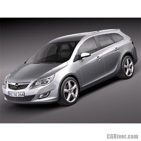 Opel Astra Touring 2012 - 3D Model