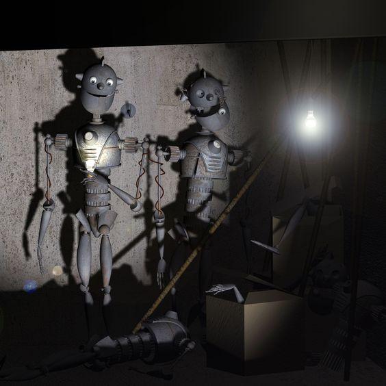 https://flic.kr/p/5LxvWn | Robot despierto | Creación 2008.