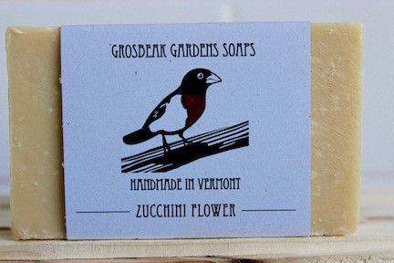 Zucchini Flower Shea Butter & Olive Oil Soap
