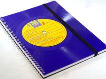 Notizbuch Schallplatte blue Vinyl upcycling